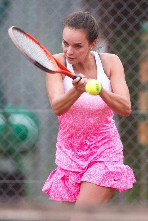 Nadine Mathis geht mit Titelverteidiger TC Dornbirn als klarer Favorit ins Endspiel gegen den TC Altenstadt. Foto: steurer