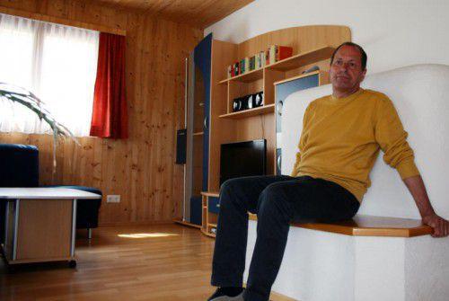 Peter Wachter ist genervt, wütend und enttäuscht: Dieser Wohnraum in einem seiner Ferienhäuser steht nun nicht Flüchtlingen zur Verfügung.