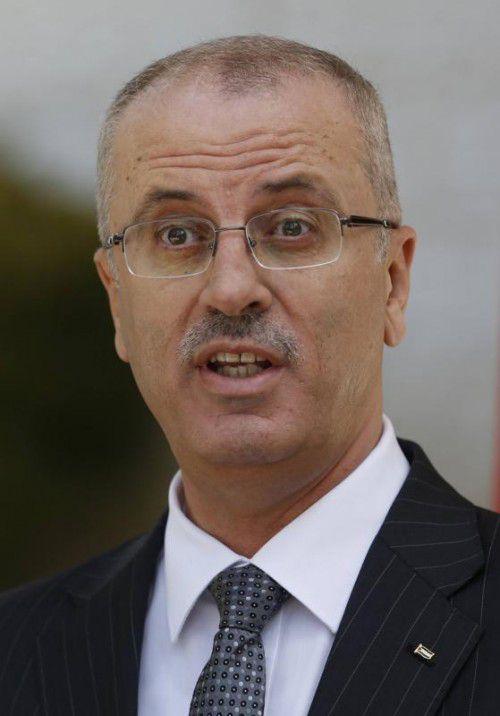 Rami Hamdallah soll Ministerpräsident bleiben.  FOTO: REUTERS