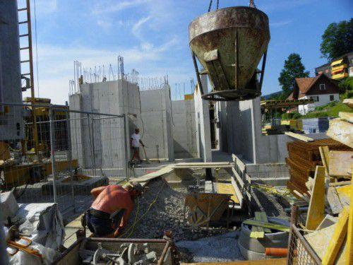 Risiko Baustelle: Eine gute Versicherung verhilft kleinen und mittleren Betrieben zu einem sicheren Standing. Foto: VN