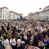 Gedenken an die Opfer der Amokfahrt in Graz