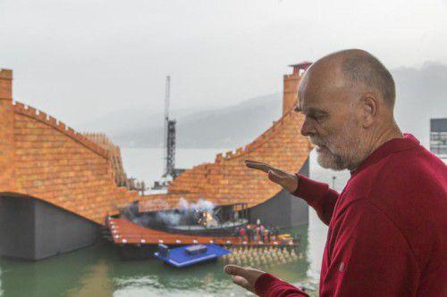 """""""Turandot"""" ist die letzte: Gerd Alfons hat allein am See 17 Opernproduktionen mitgestaltet. Foto: VN/Paulitsch"""