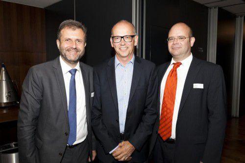 V. l.: Herbert Loos (Loos&Partner), Richter und Referent Johannes Witwer und Arthur Zukal (ReTurn). Fotos: D. Mathis