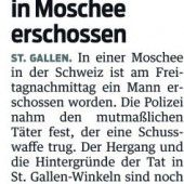 Mordanklage nach tödlichen Schüssen in St. Galler Moschee