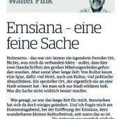 Walter Fink und die Kultur in Hohenems