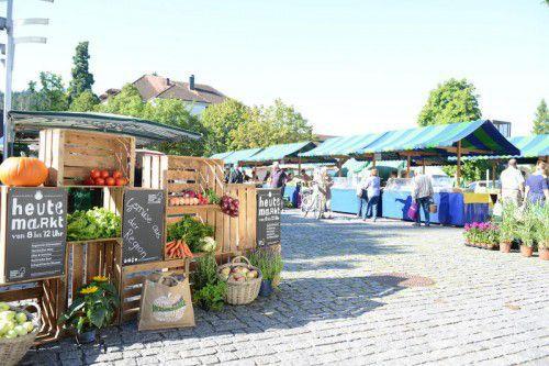 Von 8 bis 12 Uhr findet auf dem Rankweiler Marktplatz das Marktfest mit Musik, Unterhaltung und Kostproben an rund 20 Marktständen statt. foto: marktgemeinde rankweil