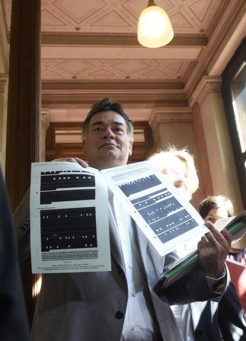 Werner Kogler (Grüne) protestierte gegen Aktenschwärzungen. APA