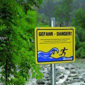 Kraftwerke warnen vor Schwallgefahr im Fluss