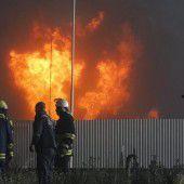 Ein Toter und Verletzte bei Großbrand in Kiew