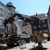 Neue Gasleitung im Feldkircher Churer Tor