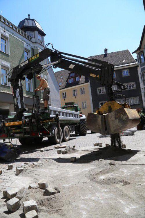 Aufgrund der Bauarbeiten ist das Churer Tor gesperrt.