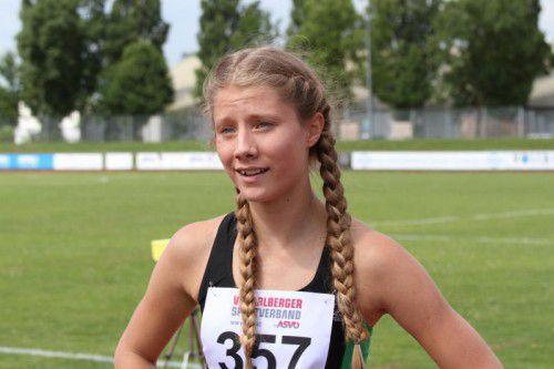 Bettina Rinderer zeigte mit der 4x100-Meter-Staffel auf.