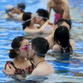 Bester Kuss in Schanghai gesucht