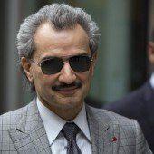 Prinz Walid bin Talal spendet sein Vermögen