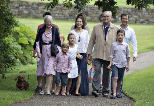 Die dänische Königsfamilie setzte sich auf Schloss Gr