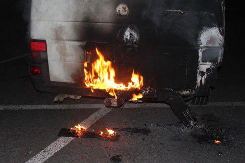 Vergangene Woche stand ein junger Mann wegen Brandstiftung vor Gericht. Er hatte in Lustenau ein Partyzelt und einen Pkw angezündet.
