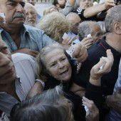 Schuldenkrise führte zu Tumulten vor griechischen Banken