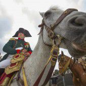 Napoleon vor der Schlacht von Waterloo