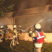 Feuer in Dornbirner Tischlerei