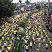 Zumba-Weltrekordversuch in Manila