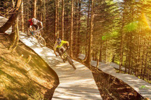 Alle Biker können sich künftig über ein noch größeres Streckenangebot im Brandnertal freuen. Bikepark