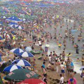 Überfüllte Strände in China