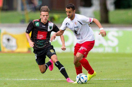 Gaben einen starken Einstand im Trikot des FC Dornbirn: Die Offensivspieler Andrea Lo Re (links) und Yusuf Özüyer.