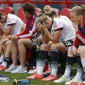 Enttäuschte DFB-Damen