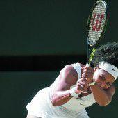 Serena Williams ist in einer bequemen Position