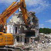 Hotel-Abbruch in Feldkirch  abgeschlossen