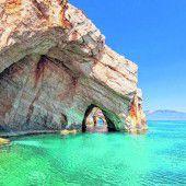 Blaue Grotten vor Zakynthos