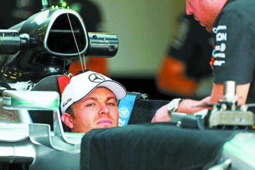 Probesitzen am Donnerstag, Nico Rosberg bereitet sich in Silverstone akribisch auf das Rennen vor. Foto: Gepa