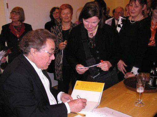Schubertiade-Autogrammstunde mit Peter Schreier.
