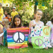 600 Kinderfahnen für interkulturelles Fest