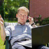 Im Urlaub an das Unternehmen denken