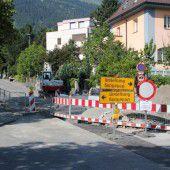 Sperre wegen Straßenarbeiten