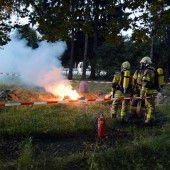 In Grödig brennen giftige Chemikalien