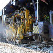 Gleisbauarbeiten am Güterbahnhof