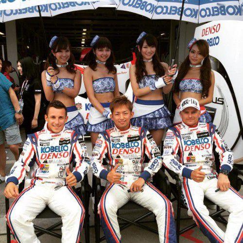 Christian Klien (l.) unterstützte in Suzuka die SARD-Stammpiloten Kohei Hirate (M.) und Heikki Kovalainen (r.).