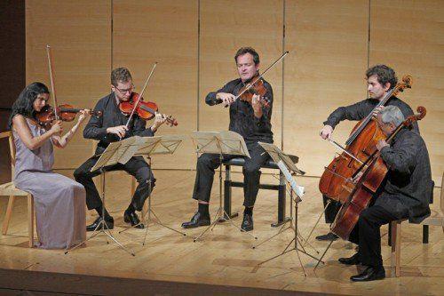 """Das exzellente britische """"Belcea Quartet"""" trumpfte im Angelika-Kauffmann-Saal mit Kammermusik auf."""