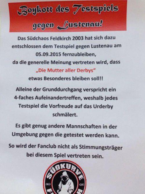 """Dem Südchaos-Fanclub reichen die """"saisonrelevanten"""" Derbys."""