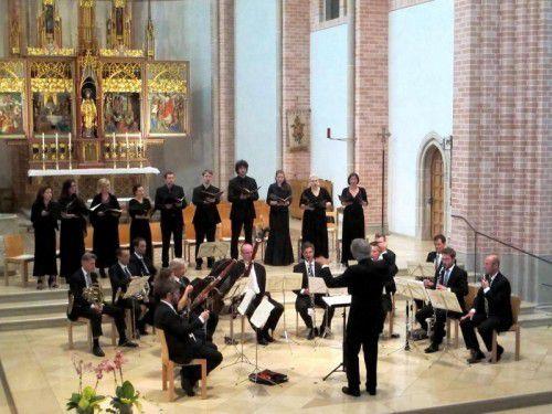 Der Bregenzer Kornmarkt-Chor realisierte ein besonderes Konzert mit dem Bläserensemble der Wiener Symphoniker.