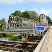 Ersatzbrücke ist bald fertig