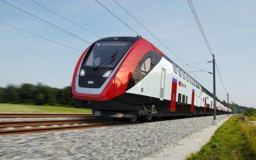 Der neue Doppelstockwagen soll auf der Strecke Zürich-Bregenz-München eingesetzt werden.