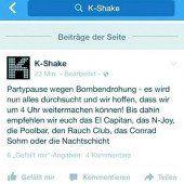 Diskothek K-Shake nach Bombendrohung evakuiert