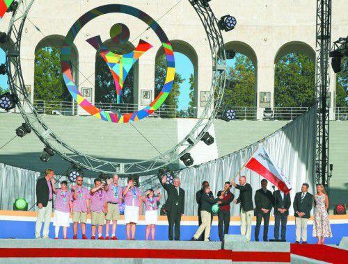 Die Steiermark übernimmt in Los Angeles die Special-Olympics-Flagge für die nächsten Winterspiele im März 2017.
