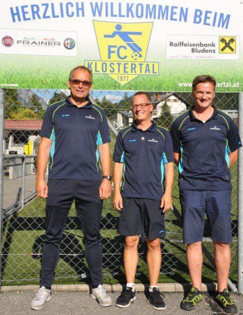 Die Vorstandsmitglieder, v. l.: Thomas Zottele (Nachwuchs), Florian Seher (Obmann) und Hannes Fritz (Vizeobmann).