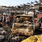 Tödliches Attentat auf einen Markt in Bagdad