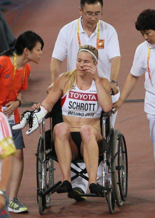 Eine Verletzung stoppte Schrott im Halbfinale.