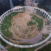 In China entsteht weltweit größtes Radioteleskop